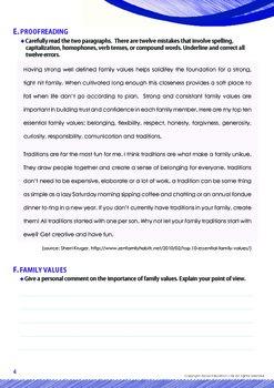 Family - Family Values - Grade 12