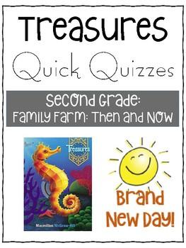 Family Farm Then and Now Quiz - Treasures Grade 2