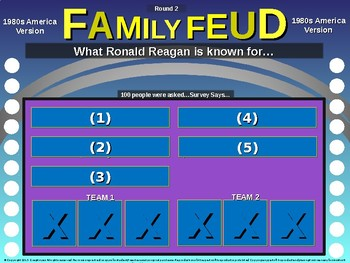 Family Feud! 11th Grade US History review game: 1980s AMERICA (17/20)