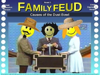 Family Feud! 11th Grade US History review game: GREAT DEPRESSION (11/20)