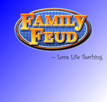 Family Feud Classroom Game - SMART Notebook Template (Simple to modify)