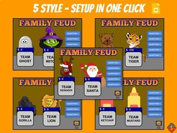 family feud game google slides template