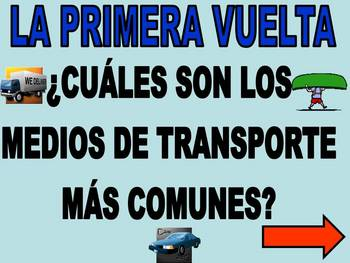 Family Feud Game in Spanish - Transportation/Days/Months/Weather