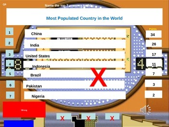 Family Feud Geography