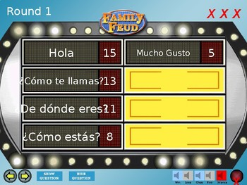 Family Feud- Spanish 1