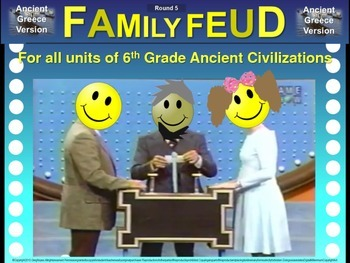 Family Feud! fun 6th Grade Ancient History review game: ME