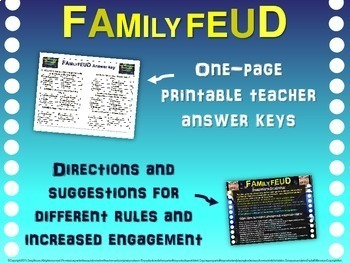 Family Feud! fun 8th Grade U.S. History review game: ALL 8 UNITS BUNDLE!