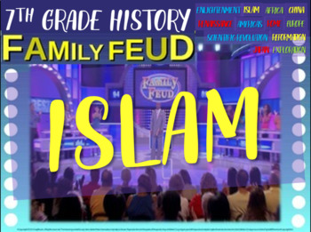 Family Feud! interactive PPT game for 7th grade history - Islam Version