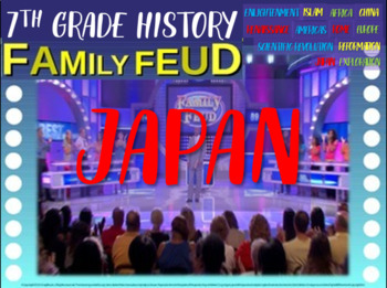 Family Feud! interactive PPT game for 7th grade history - Japan Version