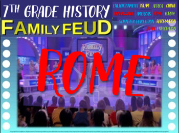 Family Feud! interactive PPT game for 7th grade history - Roman Empire Version