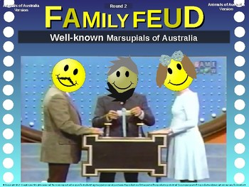 Family Feud! interactive review game: ANIMALS OF AUSTRALIA TRIVIA