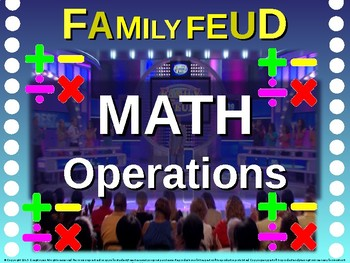 Family Feud! interactive review game: MATH OPERATIONS TRIVIA