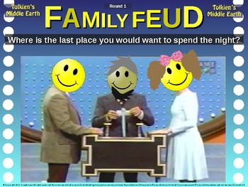 Family Feud! interactive review game: MIDDLE EARTH TRIVIA