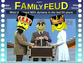 Family Feud! interactive review game: NBA BASKETBALL TRIVIA
