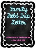 Family Field Trip Fee Letter