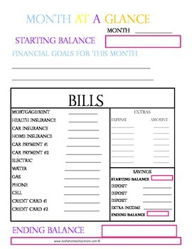 Family Finance binder