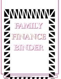 Family Finance binder