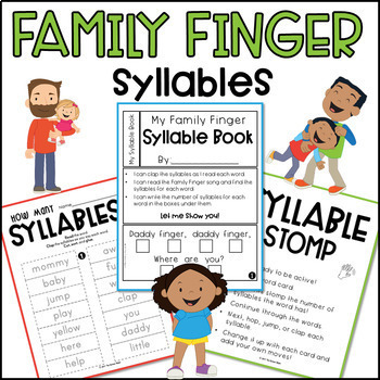 Family Finger Song Pack with Sight Words & Syllables