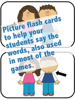 Family Flash Cards,  Activities, and Games for English Language Learners