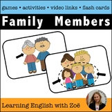 Family Flash Cards,  Activities, and Games for English Lan