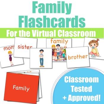 Family Flashcards for VIPkid & the Virtual ESL Classroom - Classroom Props