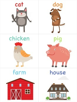 Farm Animal Flashcards for the Virtual ESL Classroom - Virtual Classroom Props