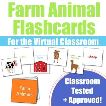 Farm Animal Flashcards for VIPKid & the Virtual ESL Classroom - Classroom Props