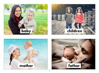 Family Flashcards with Vocabulary