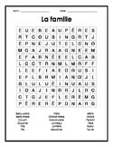 Family French Word Search Puzzle - Mots cachés français sur la famille