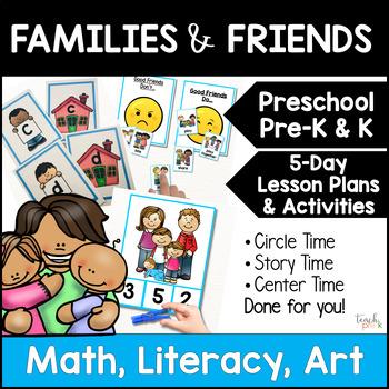 Family & Friends!  5-Day Lesson Plans for Preschool, Pre-K, K, & Homeschool