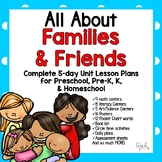 Family & Friends!  5-Day Lesson Plans for Preschool, Pre-K, K, & Homeschool