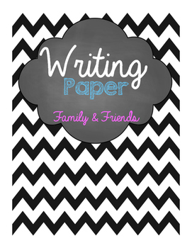 Family & Friends Writing Paper
