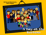 Thanksgiving Family Story! A Day at the Burtons - Digital and Printable Book