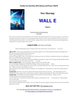 Family Fun Activities With Pixar's Wall E