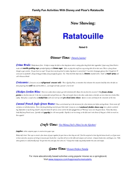 Family Fun Activities With Pixars Ratatouille