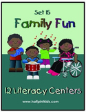 Family Fun Literacy Centers: Half-Pint Readers Set 15