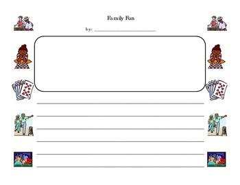 Family Fun - Personal Narrative Writing Packet