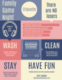 Family Game Night Etiquette Poster