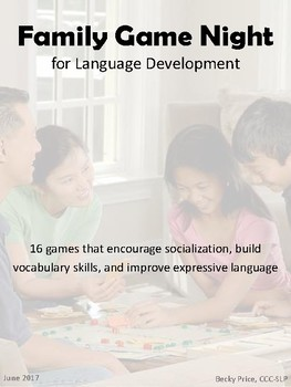 Family Game Night for Language Development