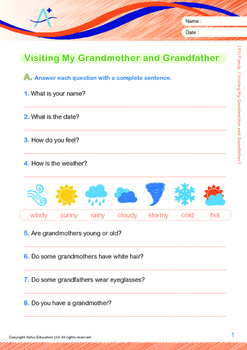 Family - Visiting My Grandmother and Grandfather - Grade 1