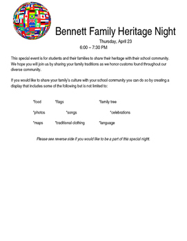 Family Heritage Night