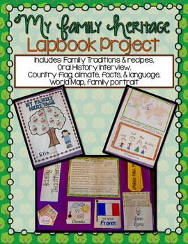 Family Heritage and Culture Lapbook Project