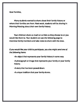 Family History Interview Project (Spanish and English)