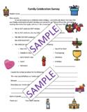 Family Holiday Survey - Encuesta familiar sobre celebraciones (Dual Language)