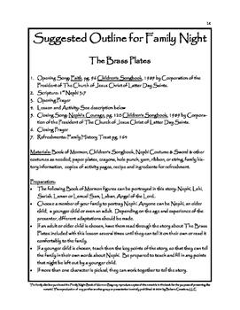 Family Home Evening Family Night Idea Book