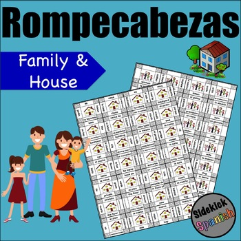 Family / House Vocabulary Puzzles