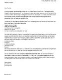 Family Identity Presentation - Letter Home