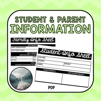 Family Info Sheet