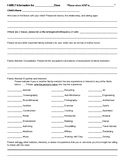 Family Information and Expertise Form