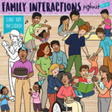 Family Interactions Clipart for All Ages